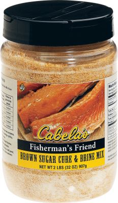 Pack worlds of mouth watering flavor and moisture into your next batch of smoked, roasted or grilled meat. To use, simply dissolve a portion of Cabelas Cure And Brine Mix into water. Submerge meat into brine for a day or more. Remove, rinse and cook normally. This classic method lets meat soak up and retain moisture during cooking, and it infuses every bite with sweet, salty, savory flavor. Total mix makes up to 10 quarts of brine. Size: 32-oz. Available: Fishermans Friend Brown Sugar Cure And Brine Mix Old Fashioned Maple Cure And Brine Mix All-Purpose Sweet Cure And Brine Mix Poultry And Fowl Honey Cure And Brine Mix Color: Brown. Type: Cures & Marinades. - $14.99
