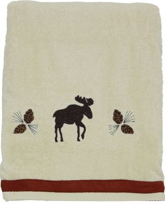Entertainment Decorate your bathroom with images of the north woods and youll instantly feel the outdoor appeal of nature. 100% cotton. Imported. Dimensions: 27 x 50. - $16.99