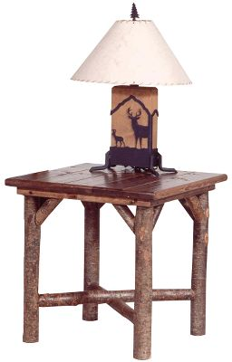 Entertainment The Side Table provides the warm, natural color that only wood can. Crafted from kiln-dried poplar with rustic 2 -thick sealed-pine planking for the top. Made in USA. Dimensions: 27 L x 27 D x 27 W. Color: Natural. - $599.99