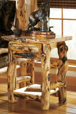Entertainment If you love the gnarly, knotty character of weathered wood, you will love the look of our unique handcrafted bedroom furniture. The nightstands are individually crafted by master furniture makers known for bringing out the best this wood has to offer. The pieces are hand-sanded, then rubbed with beeswax and linseed oil to bring out their natural shine. The mortise and tenon construction in each joining piece ensures strength and product longevity. The Old-World construction and finishing techniques will provide years of enjoyment. Complete your dream bedroom by complementing the nightstand with a range of accessories that pull together your rustic dcor. Made in USA. Dimensions: 30H x 24W x 21D. Color: Natural. - $699.99