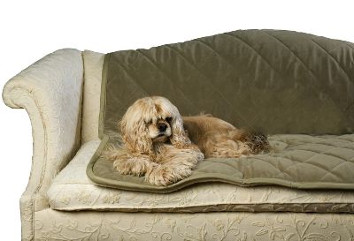 Entertainment Your search for the ultimate dog blanket is over! This thick and super-comfortable quilted microfiber blanket has a Sherpa lining on the reverse side for stylish contrast and a beautiful-looking finish. It protects your furniture from soiling and hair. 100 polyester for thermal warmth on cold nights. Whipstitching around the edges gives it a great finishing touch. Machine washable. Sizes: Small(54 x 48 ), Large(100 x 50 ). Colors: Carmel, Chocolate, Sage, Moss, Blue, Red. Size: Large. Color: Chocolate. - $99.99