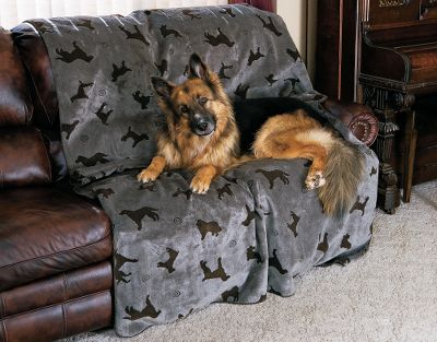 Entertainment When your best friend's place to sleep is usually on your best sofa, throw this Plush Embossed Tossed Dog Throw over it. This plush-knit throw blanket adds style and function to any couch. The soft and long-lasting 100% polyester fabric will serve your dog for years and save your furniture from cleaning up hair and soil. Whipstitching around the blanket edges adds a fine finishing touch. Machine washable. Made in the USA. Sizes: Small (30 x 60 ), Medium (60 x 60 ), Large (60 x 90 ).Colors: Light Brown, Grey. Size: SMALL. Color: Light Brown. Type: Furniture Covers & Throws. - $39.99