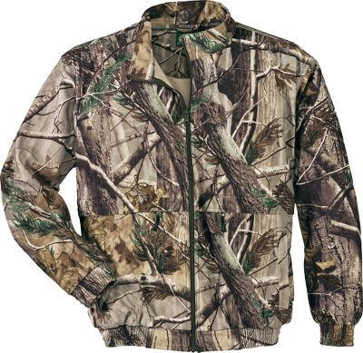 Hunting Our Mens Microtex Uninsulated Bowhunters Jacket is as soft and quiet as fleece. Tough as denim fabric sheds burs, seeds and leaves. Virtually no other fabric remains as quiet while withstanding the punishment that a seasons worth of contact with heavy brush, wire fences and other in-the-field obstacles can deliver. The key to this combined polyester materials unmatched strength and silence comes from its low-nap, incredibly tight microweave construction. It also dries quickly, is breathable and extremely wind-resistant. Best of all, it wont fade even after repeated washings, guaranteeing the camo pattern and garment will look like new for many seasons to come. Two super-large (10-1/2 x 10) zippered cargo pockets keep essentials secured and within easy reach, while slash handwarmer pockets keep fingers warm. Set-in sleeves grant the freedom to draw a bow or climb to your treestand. Feature a license loop on back and heavy-duty YKK zipper. Imported. Sizes: M-3XL. Camo patterns: Realtree AP, Mossy Oak Break-Up Infinity, Cabelas Outfitter Camo, Realtree XTRA, Cabelas Zonz Woodlands, Cabelas Zonz Western. Size: XL. Color: Outfitter Camo. Gender: Male. Age Group: Adult. Material: Polyester. - $31.88