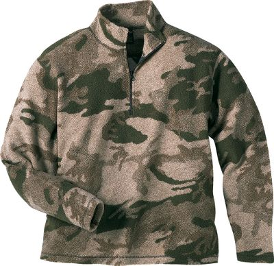 Hunting Soft, quiet, warm and light in weight, the Cabelas Outfitters Mens Micro Berber 1/4-Zip Pullover is ideal for layering, the approach that prepares you best for changing weather conditions in the field. Youll find it particularly effective as a Mid-Layer garment, but its also very comfortable worn alone. Our Outfitter Camo pattern has proved to be so effective in so many hunting situations, were confident that once youve tried our Outfitter Micro Berber you wont go back to anything else. Imported. Sizes: M-2XL. Camo pattern: Outfitter Camo. Size: XL. Color: Outfitter Camo. Gender: Male. Age Group: Adult. Type: 1/4-Zip Pullovers. - $32.88