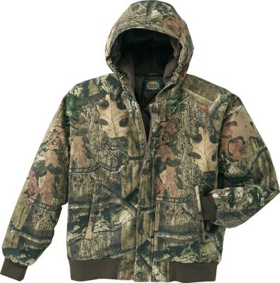 Hunting Take a child hunting even on cold mornings with our Youth Silent Weave insulated Hooded Jacket. It offers a superior blend of warmth, comfort and durability. The quiet, yet tough 7-oz. 50/50 polyester/cotton brushed twill shell and the 100% polyester fiberfill insulation will withstand harsh conditions. Smooth 100% nylon lining. Two-piece hood with side-elastic inserts. Two roomy pockets. Knit cuffs and waist. Imported. Sizes: S-XL. Camo patterns: Mossy Oak Break-Up Infinity, Realtree XTRA., Seclusion 3D. Size: XL. Color: Mo Break-Up Infinity. Gender: Female. Age Group: Kids. Material: Polyester. - $23.88