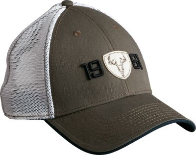 Hunting The old-fashioned felt patch, genuine twill construction and comforting mesh back are perfect for any deer hunter or outdoor enthusiast. Low-profile, six-panel design with adjustable hook-and-loop closure. Machine washable. One size fits most. Imported. Color: Olive. Size: ONE SIZE FITS MOST. Color: Olive. Gender: Male. Age Group: Adult. Material: Twill. Type: Caps. - $12.99