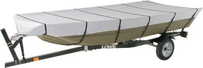 Dont settle for cheap tarps or poor-fitting, oversized boat covers. Get a cover that is specifically built for your Jon Boat. These universal-fit covers are made of 300-denier heavy-duty polyester with an elastic cord in the hemline for a snug fit. Tie-down straps with quick-release buckles are included for even more security in high winds and when trailering. The included storage sack keeps the cover clean and protected when not in use. Cabelas return policy applies. Imported. Type: Jon Boat Cover. - $64.99