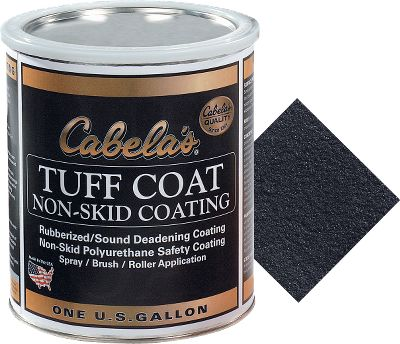 Hunting Increase the traction on the bottom of your duck boat, blind or dock and gain a sure footing the next time you head out in the frosty, rain-soaked wetlands with this easy-to-apply liner. Made from a recycled rubber compound, this highly durable coating also places a protective film over the metal of your boat's floor to muffle the noise of dropped items and scuffling feet when you're preparing for a shot. The nonflammable, chemical-resistant layer lasts for years in harsh, cold conditions and is even resistant to the corrosive effects of saltwater environments. Simple, two-step roll-on application. Available: One Gallon (approx. 50 sq. ft. of coverage) One Quart (approx. 12 sq. ft. of coverage) Colors: White, Olive, Sand, Tan, Gray, Dark Gray or Black. Size: QUART. Color: Olive. Gender: Male. Age Group: Adult. Type: Non-Skid Coating. - $34.99