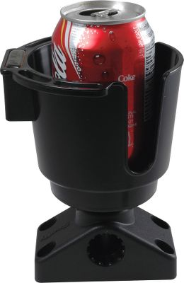 When you work up a thirst on the water, your cold drink can be close at hand. Drink holder will mount directly to your Cabelas 360HT and Quick-Draw rod holder mount. Its even made of the same rugged material as our rod holders. We also have a model with a button-mount that can be positioned vertically or horizontally anywhere on the boat. The holder quickly releases from the mount and snaps back into place. Both come with necessary mounting hardware. Does not include side/deck base. Available: Rod Holder Mount, Surface Button Mount. Type: Drink Holder. - $15.99
