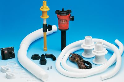 Basspirator pumps are designed for serious fishermen who need frequent circulation of fresh water into their livewells and baitwells. As clean water is pumped into the livewell, water and debris pass through the overflow fitting. The kit includes cartridge, 500 gph cartridge pump, 7 ft. of 3/4 hose, aerating head, two 1-1/2 overflow fittings and hose, illuminated fuse switch, hose clamps, 16 ft. of 16-gauge wire and instructions. 12-volts, 1.4-amp draw. Type: Livewell Aerating Kit. - $77.99
