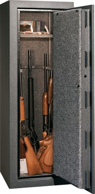 Store your firearms and valuables with confidence and peace of mind in a ProVault Safe by Liberty. Heavy-duty, two-piece door and body construction is six times stronger than competing designs. There are no seams exposed to potential prying attacks. Extra-hard plate protects the lock mechanism from drilling and punching. Ten 4 military-style locking bars provide stronger security in the doors four corners. Break-resistant lock-down hinges are stronger than traditional welded hinges. A dual-action stabilizer in the locking system ensures the locking bars engage evenly and consistently. The Suretight handle is outfitted with a slip clutch so no matter how much a would-be thief tries to torque the handle with a pipe, it will protect the locking mechanism by slipping. Fire protection rating is 30 minutes at 1,200F. The 1 composite fire door is outfitted with a Palusol door seal that expands up to seven times when exposed to high heat in order to protect safe contents. The door opens 180 for convenient access to safe contents, and extra shelving allows for storage of both firearms and accessories or valuables. New SG locks. Lifetime warranty on safe (fire or attempted break-in) and locking mechanism. Lock and paint has a 5-year warranty. Available: 12-Gun, Dimensions: 59H x 18W x 16D. Weight: 247 lbs. 18-Gun, Dimensions: 59H x 24W x 20D. Weight: 334 lbs. 24-Gun, Dimensions: 59H x 28W x 20D. Weight: 370 lbs. Type: Safes. - $419.99