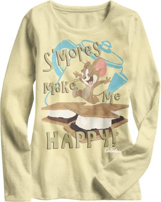When something is this sweet, s'more is always a good thing. Made of soft, 100% cotton. Imported. Sizes: 2T, 3T, 4T, XS-XL.Color: Natural. Type: Long-Sleeve Tee Shirts. Size: X-Large. Size Xl. Color Natural. - $9.88