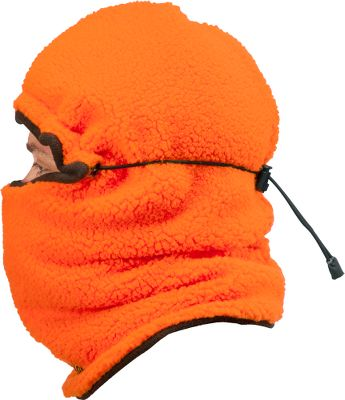 Hunting Thick-pile Berber fleece shell combines with 100-gram Thinsulate Insulation to lock in heat to keep you warm in frigid conditions. Shock-corded toggle for an adjustable fit. Can be worn multiple ways for versatility in changing conditions. Odor-resistant Polartec Power Dry grid fleece lining resists odors. One size fits most. Imported. Camo patterns: Outfitter Winter Camo, Blaze Orange, Outfitter Camo, Outfitter Brown. Size: ONE SIZE FITS MOST. Color: Blaze Orange. Gender: Male. Age Group: Adult. Material: Fleece. Type: Balaclavas. - $39.99