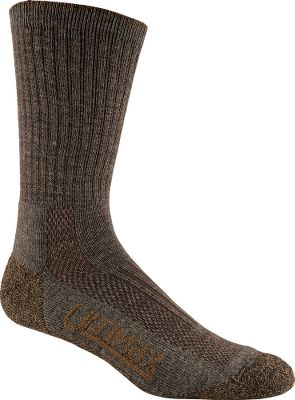 Everyday socks that your feet will appreciate with an updated blend of 40% merino wool, 30% Dri-release, 25% stretch nylon, 4% Hi Bulk acrylic and 1% spandex. Fine-gauge merino wool feels soft across the tops of feet, and it doesnt shrink or itch. Vent zones along tops and above heels team up with Dri-Release bottoms for moisture management that keeps feet dry and blister-free. Stay-put elastic tops wont sag or fall. Reinforced heels and toes for long wear. Elastic arch supports. Seamless toe area. Made in USA. Ht: 11. Sizes: M(6-8), L(9-12), XL(13-15). Colors: Charcoal, Khaki, Brown. Size: M. Color: Gray. Gender: Male. Age Group: Adult. Material: Acrylic. Type: Socks. - $12.99