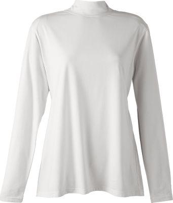 The silky 56%cotton, 37% modal and 7% Lycra jersey knit of our Womens North Haven Long-Sleeve Mock-Neck Top gives an unbelievably soft hand and a touch of stretch for all-day comfort. Imported. Center back length for size Medium: 25. Sizes:S-2XL. Colors: Sandy Beach, White, Black. Size: Small. Color: Black. Gender: Female. Age Group: Adult. Material: Jersey. Type: Long-Sleeve Shirts. - $11.88