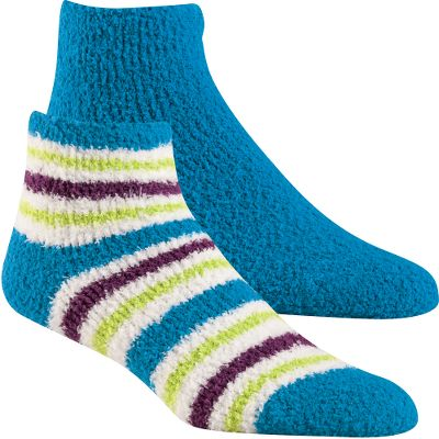 Your feet will find our plush, luxurious Aloe-Infused Socks especially pleasing. Theyre infused with aloe that leaves feet feeling pampered and relaxed. Wear them alone when lounging around the house or inside shoes for all-day enjoyment. 97/3 polyester cloud yarn/spandex. Machine washable. One size fits most. Imported. Color: Celestial Blue. Size: One Size. Color: Celestial Blue. Gender: Female. Age Group: Adult. Material: Polyester. - $12.99