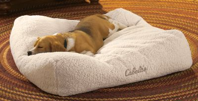 Hunting Stuffed with high-loft filling, this combination floor pillow and cube-shaped bed delivers perfect rest, and its cloudlike softness relieves pressure on hips and joints. Rich, soft and durable, the Natural Sherpa-fleece covering will wrap your dog up in luxurious warmth. Thick design raises your pet up and off the cold floor. Zippered cover removes for machine washing. 100% polyester. Imported. Sizes: Medium: 28L x 28W x 9D. Large: 31L x 31W x 9D. Size: MEDIUM. Color: Natural. Type: Dog Beds. - $59.99