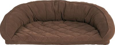 Hunting Your pet deserves the perfect curl-up spot. Shaped in a semicircle, the beds soft and quilted sleep top boasts a moisture barrier layer to protect against the occasional accident. The 3-lb. memory-foam insert delivers superior relief for hips and joints. The luxurious microfiber bolster, enhanced with high-loft polyester fill, provides exceptional warmth and comfort. The zippered, removable, 100% polyester cover is machine washable. All sizes are approximate and will vary slightly because of the bolster. Imported. Sizes: Small -Inner circle:27L x 17W x 10H, Outer circle: 32L x 24W x 10H. Medium - Inner circle: 29L x 21W x 10H, Outer circle: 40L x 28W x 10H. Large -Inner circle: 36L x 25W x 12H, Outer circle: 48L x 34W x 12H. X-Large - Inner circle: 41L x 28W x 12H, Outer circle:54L x 36W x 12H. Colors: Chocolate, Saddle, Olive. Size: SMALL. Color: Olive. Type: Dog Beds. - $99.99