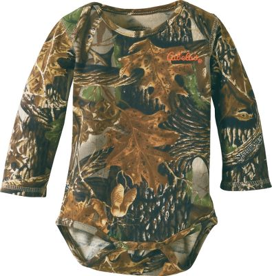 Hunting Our cute Infants Long-Sleeve Camo Onesie is perfect for your little hunter. Soft 60/40 cotton/polyester knitted jersey for all-day comfort. Convenient snap bottom for easy on and off. Round-banded neckline reduces irritation. Cabelas logo on chest. Imported. Sizes: 0-3 mo., 3-6 mo., 6-12 mo., 12-18 mo. Camo patterns:Cabelas Zonz WoodlandsPink, Cabelas Zonz Woodlands. Size: 12-18 MONTH. Color: Zonz Woodlands. Gender: Female. Age Group: Kids. Material: Cotton. Type: Long Sleeve Shirts. - $11.88
