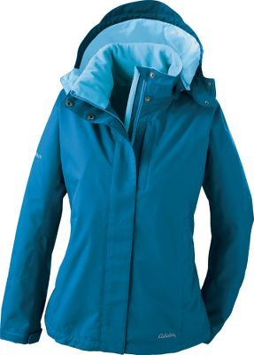 This stylish jacket has all the details covered to keep you warm and cozy in wintery conditions. Adjustable, detachable hood and drop tail with side adjustments for ease of movement and fit when layering. Waterproof, breathable Cabelas Dry-Plus fabric. The cuffs are adjustable, and the front closure does double duty with a guttered interior storm flap and exterior storm flap for blocking out the wind and weather. The warm fleece lining, zippered handwarmer and chest pockets, and the stand-up collar complete the package. Imported. Sizes: S-2XL. Colors: Aspen Green, Trail Mix, Mojave Red, Flamingo, Emerald Teal. Size: L. Color: Aspen Green. Gender: Female. Age Group: Adult. Material: Fleece. - $54.88