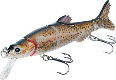 Fishing Proven minnow profile with a realistic swimming action merged with a lifelike HDS finish is a combination fish cant pass up. Swims slowly while the lip design keeps it from rising to the surface. Runs at 2-4 ft. on the retrieve. Equipped with quality Matzuo hooks. Per each. Sizes: 3, 1/8 oz., 4, 7/16 oz. Colors: (009)Rainbow Trout, (021)Chrome Shiner, (043)Perch, (222)Alewife, (223)Chrome Alewife, (445)Chrome Perch, (503)Golden Shiner. Color: Rainbow. Type: Hard Swimbaits. - $6.99