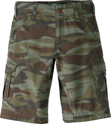 Versatile and durable shorts handle your little boys active lifestyle. Crafted of comfortable and rugged 100% cotton ripstop with a button fly. Cargo pockets with hook-and-loop closures. Front and rear hand pockets. Reinforced hem. Enzyme washed. Imported. Sizes: 5, 6, 7, 8, 10, 12, 14, 16. Colors: British Tan, Green Urban Camo, Tree Moss. Size: 8. Color: Tree Moss. Gender: Female. Age Group: Kids. Material: Cotton. - $29.99