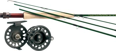 Flyfishing Match the Lefty Kreh Finesse rod of your choice with a Prestige Plus reel. Combos include a Cabelas Prestige Plus weight-forward fly line and backing.(a $69.95 value) The traditional action of the Lefty Kreh Finesse IM6 graphite rods is ideally suited for those places where the water runs low and clear. Places and situations where you need to delicately lay flies with pinpoint precision. The rods in this series have an olive translucent finish, SiC stripping guides, chromium-impregnated stainless steel snake guides and hook keeper, rosewood insert and flor-grade cork grip. Alignment dots are color coded by line weight. We took the value-packed performance of our popular Prestige Plus series and stepped everything up a notch. A new disc-drag system sports a cork drag washer and adjusts to a wider range of settings. The cast-aluminum frame has an unmatched strength-to-weight ratio, and the new mid-arbor design yields plenty of backing capacity for battling long-running fish. This rod and reel combo comes with Cabelas Prestige Plus weight-forward fly line and backing. (a $69.95 value). Images depict the style of the rod handle and may not fully represent the actual length. Color: Clear. Type: Freshwater Fly Combos. - $229.99