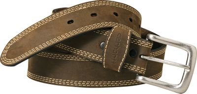 Entertainment Full-grain, crazy horse leather. Triple-row stitching around strap. Snap fasteners make it easy to change buckles. Antique-nickel finish. Imported.Width: 1-3/8 . Even waist sizes: 34 -54 . Color: Brown.Carhartt Style No.: A94. Size: 48. Color: Brown. Gender: Male. Age Group: Adult. Material: Leather. Type: Belts. - $35.00