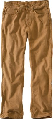 Hunting These highly durable 12-oz., ringspun duck pants are built to last. They sit slightly below the waist with a relaxed-fit seat and thighs for comfort. Straight leg with openings that fit easily over boots. 100% cotton. Imported. Sizes: Inseam: 30, 32. Waist sizes: 30-36; 38-50 (even). Inseam: 34. Waist sizes: 31-36; 38-44 (even). Inseam: 36. Waist sizes: 32-34; 36-40 (even). Colors: Carhartt Brown, Dark Coffee (not shown). Carhatt Style No.: 100096. Size: 36-40. Color: Carhartt Brown. Gender: Male. Age Group: Adult. Material: Cotton. - $49.99