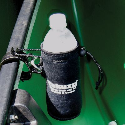 Kayak and Canoe Never again do you have to aimlessly search for your water bottle in the bottom of your boat. This drink holder keeps your drink secure and nearby while paddling. It clips onto the gunwale or seat of most canoes, the cockpit rim of a kayak, and it also has a belt loop for use while hiking. Holds up to a 20-oz. bottle. Includes stuff sack. Type: Accessories. - $14.99