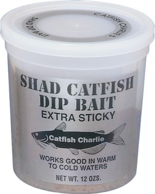 Fishing When it comes to dip baits, this is the icing on the cake. This 12-oz. tub of bait is moldable to stay on any hook or baitworm. Available in the flavors big cats have taken a liking to. Available: Cheese, Blood, and Shad. Type: Catfish Bait. - $3.49