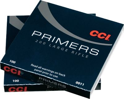 CCI primers offer the reloader clean, reliable ignition. A larger sweet spot means more reliable ignition in guns that produce off-center hits. The redesigned metal parts improve sensitivity and reduce seating force. These primers are designed for everything from small-caliber rifles and handguns to the large-caliber rifles and magnums. Type: Centerfire Primers. - $32.99