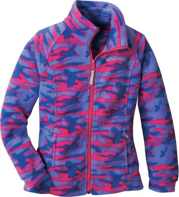 This cool-weather cover-up features warm, soft fleece construction in fun prints for Fall. Made from Coumbia's-exclusive 100% polyester MTR Fleece to ward off chills. Zip-close handwarmer pockets. Front zips from hem to collar for complete coverage on extra-cool days. Machine washable. Imported.Sizes: 4/5, 6/6X.Colors: Sea Salt Lumberjack, Surplus Green Camo, Raspberry Lumberjack, Very Pink Lumberjack, Pink Taffy Lumberjack, Eclipse Blue Camo. - $19.88
