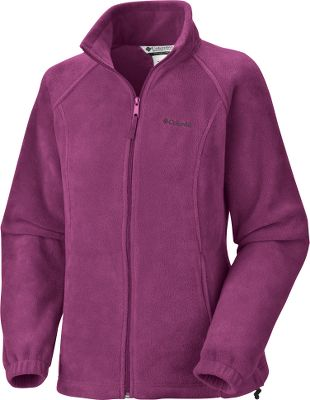 Columbias Womens Benton Springs Full-Zip Jacket is crafted of 100% polyester Maximum Thermal Retention fleece for warmth without excessive weight or bulk. Radial sleeve construction delivers a full range of motion in the shoulders and arms. Drawcord hem seals out cold air. Imported. Center Back Length: 25 (S-XL), 26 (1X-3X). Sizes: S-XL, 1X-3X. Colors:Bright Rose, Black, Cloudburst, Bright Geranium, Skyward, Miami, Light Grey Heather, Dark Lime, Stormy Blue, Sea Salt/Coral Glow, Plum. Size: Small. Color: Bright Rose. Gender: Female. Age Group: Adult. Material: Polyester. Type: Jackets. - $34.99