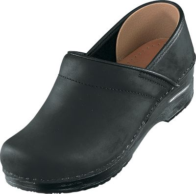 Foot-friendly comfort blends with style and class. The premium quality Professional Oiled Clog incorporates the finest components and footwear technology available to create a durable, functional, and very comfortable design that is sure to become one of your favorites. Women's European sizes: 36-42 medium widths. Colors: Brown, Black. Size: 6. Color: Brown. Gender: Female. Age Group: Adult. Type: Clogs. - $59.88