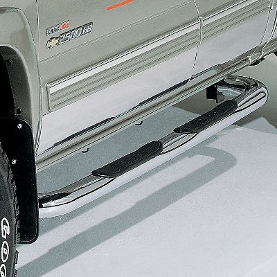 Auto and Cycle Combined with the durability of stainless steel and a high-polished chrome finish, these Dee Zee tube steps add styling to your truck. The tough 3-diameter tubing stands up to serious off-road abuse. Large molded plastic step pads provide a stable, high-traction platform for you when climbing into and out of your truck or SUV. Even though they have a true custom look, they install easily without drilling. The stainless steel construction gives you an eye-catching look. Hidden bracing is coated with zinc and a textured black coating for protection from the elements. Limited Lifetime warranty for the workmanship of the product. Available: UltraBlack, Polsihed Stainless Steel. Color: Stainless Steel. - $159.99