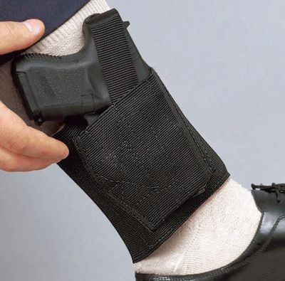 With concealed carry laws and regulations becoming more commonplace, many firearms enthusiasts find themselves in need of a way to discreetly and safely carry a handgun. DeSantis Concealed Carry Holsters give you a variety of choices to carry on your ankle, on your belt, or behind your back. The Apache Ankle Rig has a wide, elastic leg band that largely eliminates the unwanted rocking motion associated with most ankle holsters. This holster accommodates most semi-autos and small-frame revolvers. Genuine sheepskin padded lining increases carry comfort. Type: Tactical. - $49.99