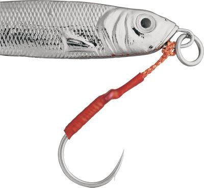 Fishing When a fish strikes at your jigging spoons head, surprise him with one of these easy-to-attach assist hooks. Just loop it through the jig eye or ring. The obverse barb ensures a solid hookup. Corrosion proof tin construction. Sizes: 1 - (per 4) 1/0 - (per 4) 2/0 - (per 3) 3/0 - (per 3) 4/0 - (per 2) Size: 4. Type: Assis/Stinger. - $7.99