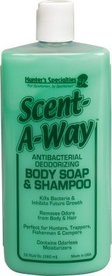 Hunting Antibacterial deodorizing liquid soap neutralizes human odors. Size: 12-oz. bottle. - $5.88
