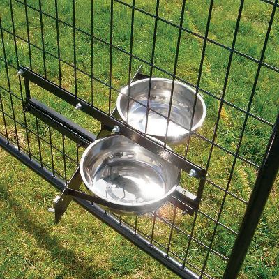Hunting Eliminate messes in your pets kennel with these professional-grade bowl systems. Prevents pets from stepping in, kicking or moving bowls and spilling its food and water by elevating the bowls off the kennel floor. Install these bowls at whatever height is most convenient for you and your pet. Includes two 2-liter bowls crafted from maintenance-free stainless steel. Mounts securely to the kennel wall using the included hardware. Available: Rotating Bowl System Innovative design lets you access both bowls without entering the kennel or opening the door. Bowls rotate out for easy filling of food and water, lock back into place quickly. Stationary Bowl System Non-rotating fixed-bowl mount. Color: Stainless. Type: Dog Bowls. - $49.99