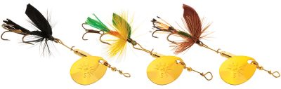 Flyfishing The original spinner-fly combination since 1961. The short-striker design is made to land more fish with its deadly trailing treble hook. Its highly effective on trout, smallmouth bass, steelhead trout, and panfish. No. 8 hooks. Per 3. Sizes: 1/16 oz., 1/8 oz. Type: InLine Spinners. - $9.99