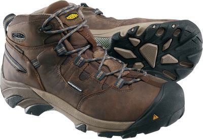 Camp and Hike Ultralight, hiker-inspired boots deliver exceptional waterproof comfort from the outdoor construction site to the indoor factory. Waterproof, breathable Keen.Dry membranes combined with waterproof nubuck-leather uppers deliver exceptional wet-weather comfort. Dri-Lex linings wick moisture away from feet to keep them dry. Removable, metatomical, dual-density EVA footbeds and compression-molded EVA midsoles offer cushioned, shock-absorbing comfort. Torsion-stability ESS shanks are flexible yet supportive. Contoured heel locks for feet-cradling comfort. Reflecting webbing for extra roadside safety. Asymmetrical steel toes for a roomy, protective fit. Oil- and slip-resistant nonmarking rubber outsoles. Meets ANSI Z41 PT99 standards for electrical-hazard protection from open circuits. Imported. Ht: 6. Avg. wt: 3 lbs./pair. Mens sizes: 8-14 D and EE widths. Half sizes to 12. Colors: Slate, Brindle. Size: 11.5. Color: Brown. Gender: Male. Age Group: Adult. Type: Boots. - $154.99