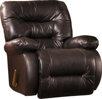 Entertainment Kick your feet up, collect your thoughts and surround yourself with plush comfort. Adjustable kick-out recliner mechanism with gravity-activated handle assist makes reaching ultimate relaxation effortless. Overstuffed pillow arms, line-tufted back and a pad-over-chaise seat provide exceptional comfort. Durable hardwood frame and rugged doweled and corner-blocked construction for years of enjoyment. Sinuous-wire springs prevent sagging, while polypropylene-coated clips repress squeaks. Made in USA. 42H x 40.75W x 37.75D. Color: Chocolate, Burgundy, Sand. Color: Chocolate. Type: Recliners. - $699.99