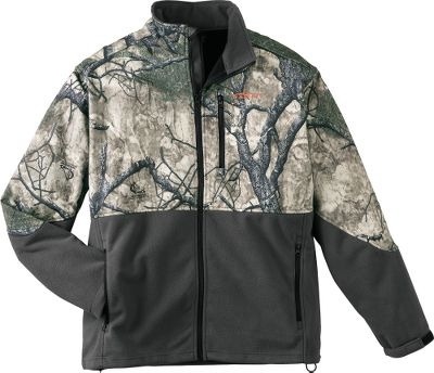 Hunting Constructed of breathable, windproof polyester and lined with ultrawarm, 100% polyester microfleece, it delivers exceptional warmth and water-resistant protection for layering or stand-alone wear. Soft, moisture-wicking, microfleece lining with adjustable cuffs and dual-zippered handwarmer pockets. Imported. Sizes: M-2XL. Camo pattern: Mothwing Mountain Mimicry. Size: LARGE. Color: Mountain Mimicry. Gender: Male. Age Group: Adult. Material: Polyester. - $69.99