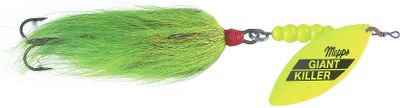 Fishing These are some of the best big-game lures for muskie, Northern pike, stripers and many saltwater fish. The 1-3/4 oz. Tandem Bucktail version has premium, extra sharp VMC 5/0 Cone-Cut treble hooks. Colors: (024)Firetiger, (084)Hot Chartreuse/Chartreuse, (231)Gold/Rainbow/Red, (858)Gold Blade/Black. Color: Chartreuse. Type: Inline Spinners. - $17.99