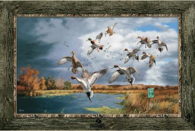 Hunting Instead of boring bare walls, admire ultrahigh-resolution images of your favorite wildlife in any outdoor-themed room of your home or cabin. Choose from your favorite wildlife graphics framed by a camouflage or barnwood vinyl trim.Available: Late Autumn - 72 x 48 Bull Elk Fighting - 72 x 48 Moose in Water - 48 x 72 Whitetail Buck Standing in a Cornfield - 48 x 72 Whitetail Buck in Cut Corn - 48 x 72 Six Pack Monster Bucks - 100 x 36 Fruits of Your Labor - 72 x 48 Morning Retreat - 72 x 48 Tight Quarters - 72 x 48 Dream Team One on One - 72 x 48 Dream Team Summers Edge - 72 x 48 Big Horn Sheep Battling - 48 x 72 Morning Glow - 72 x 48 - $99.99