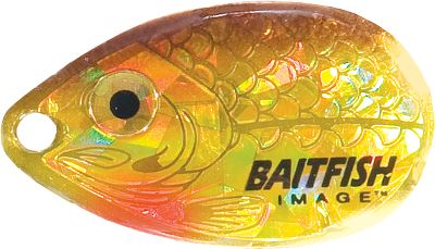 Fishing Holographic eyes, gills and scales give the high-flash Northland Baitfish-Image Walley Spinner Harness a lifelike look. Blades and beads produce strike-triggering sound and vibration. Red Lip-Stick hooks add visual enticement to the presentation. Snelled Trilene XT leaders are tough and reliable. The double-hook worm harness makes them perfect for trolling. Rigged with 60 of 14-lb.-test monofilament, #3 Colorado blade and size #2 and #1 hook. Per 3. Colors: (002)Gold Shiner, (003)Silver Shad, (005)Rainbow Chub, (006)Sunfish, (007)Sunrise, (009)Gold Perch, (010)Clown, (011)Alewife White, (021)Firetiger. Color: Rainbow. Type: Bait Rigs. - $5.88