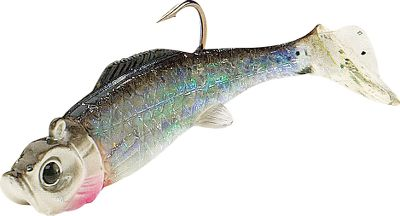 Fishing A unique soft-plastic bait with a hyperactive paddle tail that wiggles enticingly as the lure moves through the water at any speed. The holographic Baitfish-Image shad body sports lifelike colors and highly reflective FlashFoil shimmers like iridescent fish scales to attract fish from a distance. Realistic eyes add to the tempting presentation. Per 2. Sizes: MM3 - 2-3/8, 1/8 oz. MM4 - 3-1/8, 1/4 oz. MM5 - 3-1/4, 3/8 oz. Colors: (001)Silver Shiner, (002)Gold Shiner, (003)Firetiger, (004)Perch, (005)Bluegill. Color: Silver. Type: Rigged Plastic Swimbaits. - $3.29