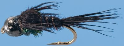 Flyfishing The addition of a fast-sinking Heavy Metal tungsten bead makes this classic Pheasant Tail nymph a lethal part of any trout fishermans arsenal. Per 3. Sizes: 14, 16, 18. Colors: Black, Olive, Brown. Color: Olive. Type: Nymphs. - $15.97