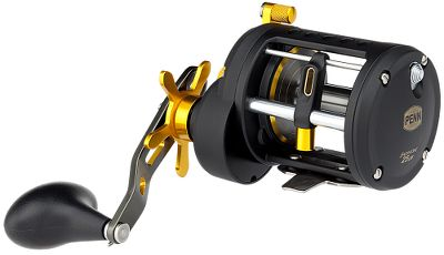 Fishing Game fish wont know what hit them when you bring out the dependable Penn Fathom Levelwind Reels. Lower gear ratio and stainless steel TiN-coated levelwind system offers extreme cranking power and ease of operation. Frame and sideplates are die-cast aluminum, a step up from a graphite-frame reel. Main gear and pinion gear feature high-strength, marine-grade bronze. Versa-Drag system uses super-durable HT-100 drag washers for smooth and consistent drag pressures, even under heavy loads. Four shielded stainless steel ball bearings. Instant anti-reverse bearing with multistop back up. Models FTH20LWLH and FTH25LWLH are both left-hand retrieve. Color: Stainless Steel. Type: Saltwater Conventional Reels. - $199.99